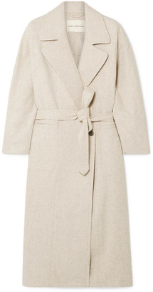 Mara Hoffman Atlas Oversized Belted Melange Wool Coat