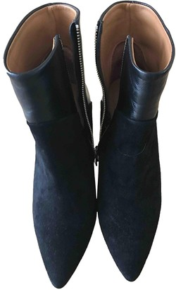 IRO Fall Winter 2019 Black Suede Ankle boots