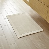 Crate & Barrel Westport Oyster Bath Rug