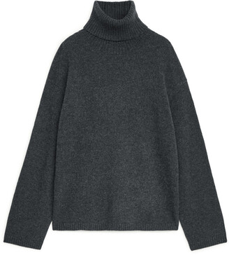 Arket Oversized Cashmere Roll-Neck Jumper