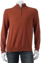 Croft & Barrow Men's Classic-Fit Solid 12gg Quarter-Zip Sweater