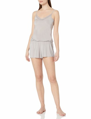 Yummie Women's Modern Solutions W/Lace Trim Hollywood Romper