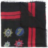 Alexander McQueen skull badge print scarf