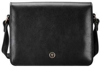 Maxwell Scott Bags Italian Black Leather Shoulder Bag For Women