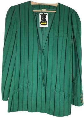 Krizia Green Wool Jacket for Women Vintage