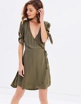 Sass Emelia Tie Sleeve Wrap Dress