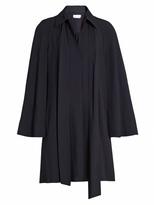 Chloé Point collar long-sleeved cady shirtdress