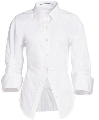 Alexander Wang Ruched Cotton Shirt