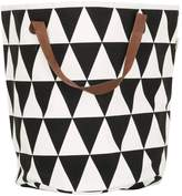 ferm LIVING Triangle Hand-Printed Laundry Basket