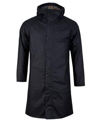 Barbour White Label Slim Fit Hooded Hunting Jacket Colour: NAVY, Size: