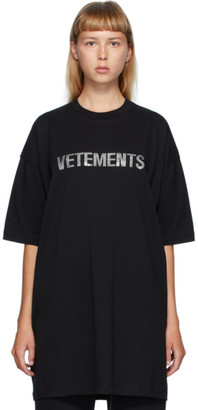 Vetements Black Rhinestone T-Shirt