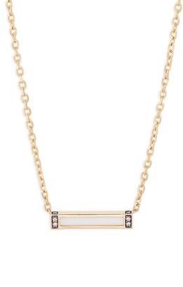 Sorellina Otto Pave Diamond Bar Necklace