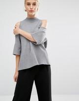 Monki Cold Shoulder Swing Sweater