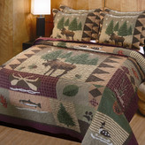 Greenland Home Fashions Moose Lodge 3 Piece Reversible Quilt Set
