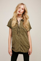 Womens LOU LOU MILITARY BUTTONDO