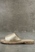 Report Farrel Gold Slide Sandals