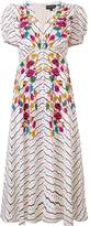 Saloni floral printed midi dress