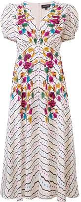 Saloni floral printed midi dress