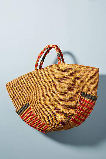 Anthropologie Anuanua Woven Tote Bag