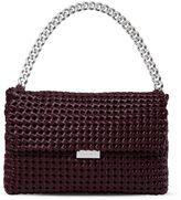 Stella McCartney burgundy becks weaved shoulder bag