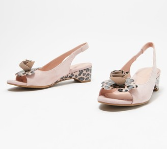 Taryn Rose Slingback Heeled Sandals with Rose - Neva Leopard