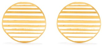 HSU JEWELLERY LONDON Large Waved Circle Earrings