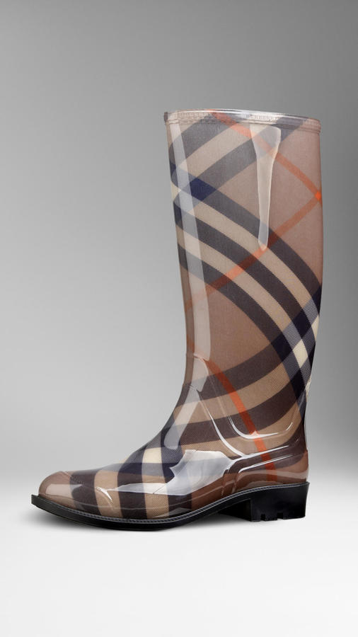Burberry Smoked Check Rain Boots