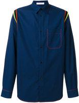 J.W.Anderson contrast striped shirt - men - Cotton - 44