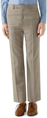 Gucci Men's Windowpane Plaid Flat-Front Pants