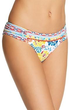 Lucky Brand Las Dalias Shirred Bikini Bottom