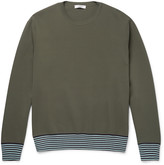 Valentino - Stripe-trimmed Stretch-knit Sweatshirt