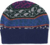 Paul Smith Accessories Fairisle Lambswool Beanie