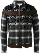 Kolor stylised plaid jacket