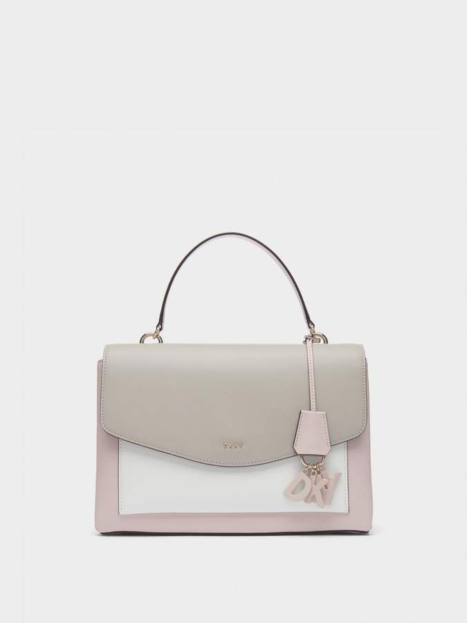 DKNY Lex Colorblock Leather Satchel