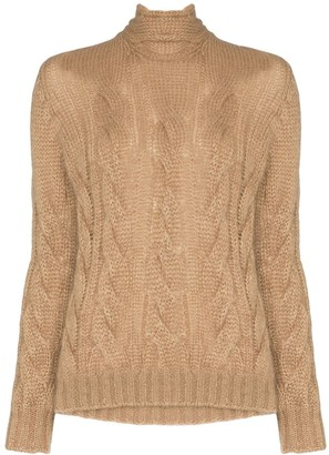 Prada tie-back cable-knit sweater