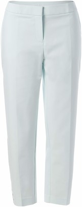 Rafaella Women's Curvy Fit Solid Capri with Hem Snaps