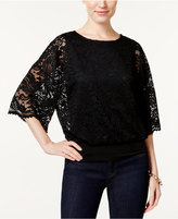 JM Collection Petite Lace Dolman-Sleeve Top, Only at Macy's