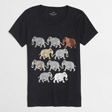 J.Crew Factory Factory walking elephants collector tee in airy cotton