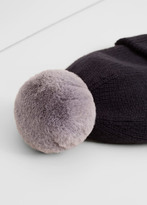 MANGO Knit Bobble Beanie