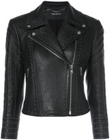 Yigal Azrouel studded biker jacket - women - Lamb Skin - 0