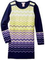 Design History Long Sleeve Sweater Dress (Big Girls)