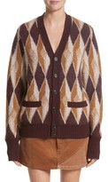 Marc Jacobs Women's Boiled Cashmere Jacquard Button Cardigan