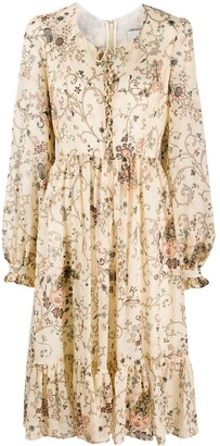Etro Floral-Print Flared Dress