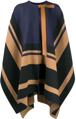 Chloé Striped Wool Cape