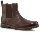 Mantaray Dark Brown Leather Chelsea Boots