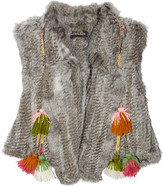 Lippi tasseled rabbit gilet