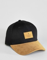 Asos Baseball Cap With Tan Faux Suede Peak