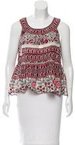 Anna Sui Printed Sleeveless Top