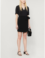 Claudie Pierlot Wrap-over crepe mini dress