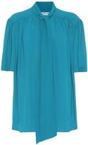 Balenciaga Scarf crepe shirt